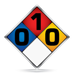 International  Diamond 0-1-0 Symbols,White,Blue,Red,Yellow Warning Dangerous icon on white background,Attracting attention Security First sign,Idea for,graphic,web design,Vector,illustration,EPS10