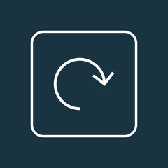 Refresh icon line symbol. Premium quality isolated rotate element in trendy style.