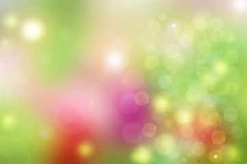 abstract green yellow pink spring bokeh