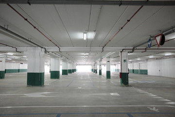 empty covered parking