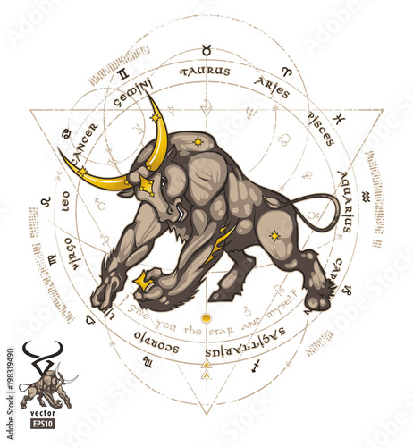 the astrological sign of taurus is represented by which animal