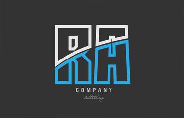 Fototapeta white blue alphabet letter ab a b logo icon design obraz