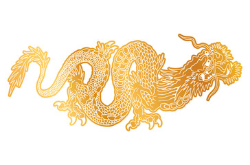 Сhinese golden dragon.