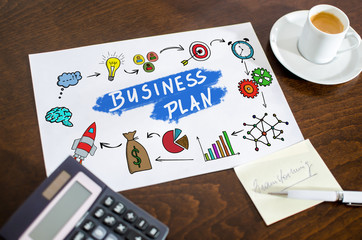 Business plan concept on a paper