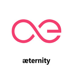 Aeternity Cryptocurrency Sign Isolated