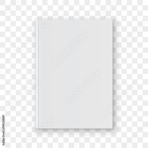 Book cover blank white vertical design template. Vector empty book ...