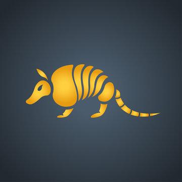 Armadillo logo icon design, vector illustration