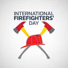 International Firefighters' Day logo icon design, vector illustration