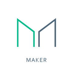 Maker Cryptocurrency Sign Isolated