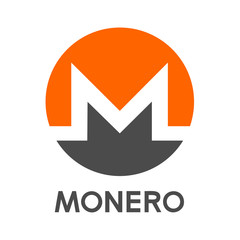 Monero Cryptocurrency Sign Isolated