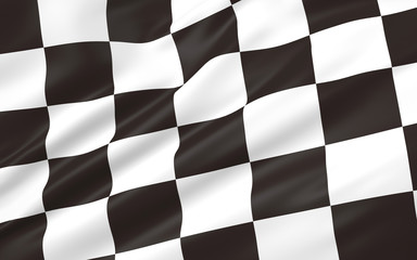 3D illustration of race flag