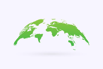 Green World Map Vector icon