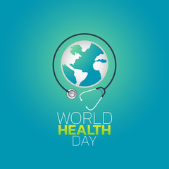 World Health Day logo icon design, vector illustration