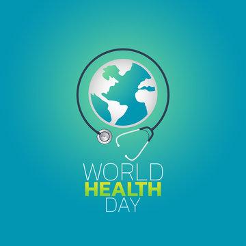 World Health Day logo icon design, vector illustration