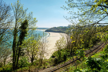 View overlooking Carbis bay in Cornwall