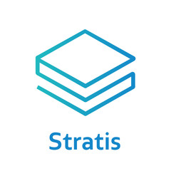 Stratis Cryptocurrency Sign Isolated