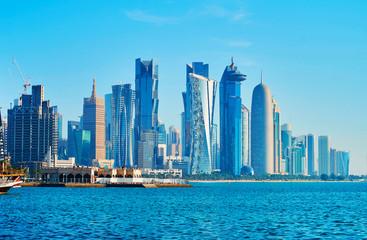 Developing districts of Doha, Qatar