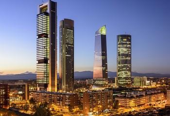 Poster de jardin Madrid madrid skyline