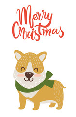 Merry Christmas Poster Congratulation from Dog