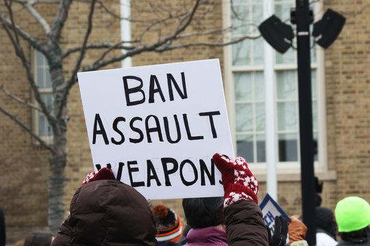 Ban Assault Weapons sign