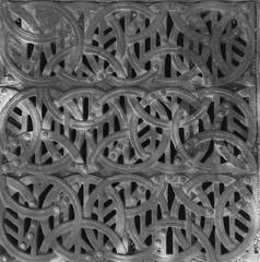 Cast metal water drain cover