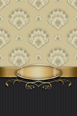 Wall Mural - Decorative background with elegant frame.