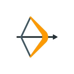 bow arrow flat vector icon. Modern simple isolated sign. Pixel perfect vector  illustration for logo, website, mobile app and other designs
