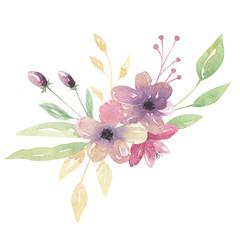 Pretty watercolor Flower Bouquet