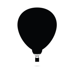 hot air balloon vector silhouette