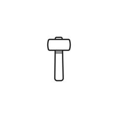 hammer icon. sign design