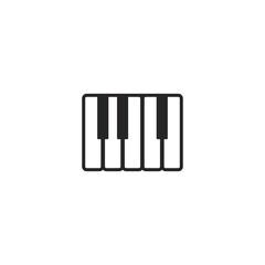 piano keyboard icon. sign design