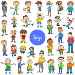 cartoon kid boys characters big set