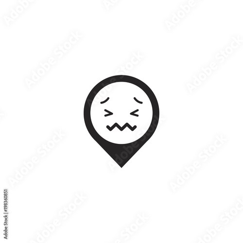 location emoji  sign design