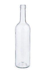 Empty white wine bottle