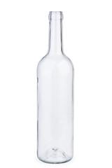 Empty white wine bottle