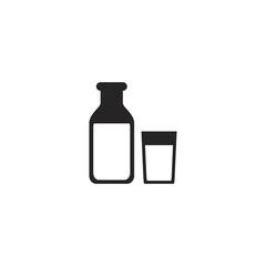milk icon. sign design