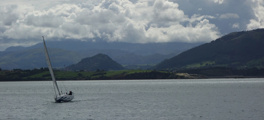 boat at santander bay