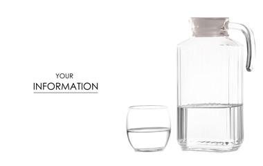 Glass of water jug pattern