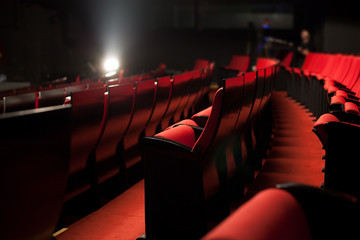 Foto op Plexiglas Theater red theater seats