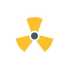 hazardous radiation flat vector icon. Modern simple isolated sign. Pixel perfect vector  illustration for logo, website, mobile app and other designs