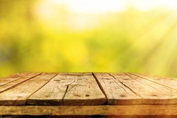 Fotoväggar - Old wooden table
