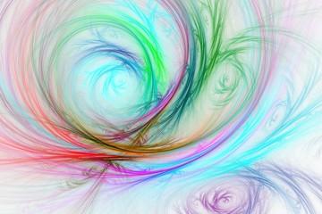 Bunte Grafik - wie mit Buntstift gemalt