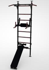 Wall bars gymnastic render