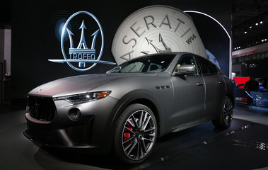 The 2019 Maserati Levante-Trofeo is presented at the New York Auto Show in New York