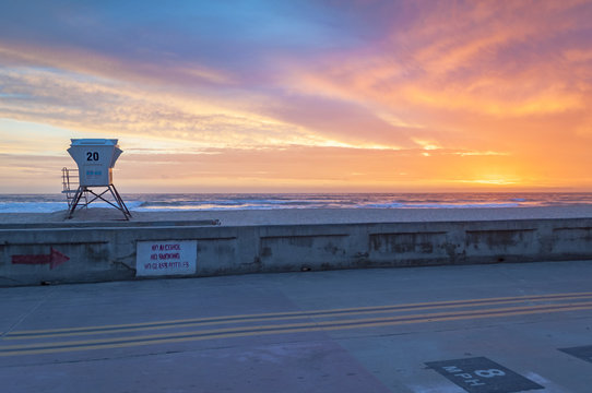 Mission beach San Diego lifeguard tower