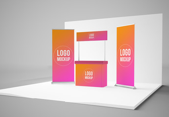 Exhibition Display Stand Mockup