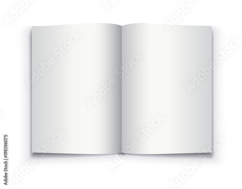 Mockup opened book, brochure, magazine, notebook, booklet. Realistic ...