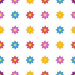 Background of bright colored stylized flowers
