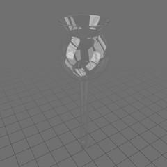 Glass laboratory thistle funnel