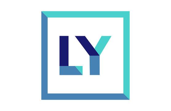LY Square Ribbon Letter Logo